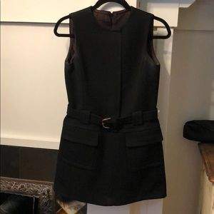Vintage mod belted wool mini dress